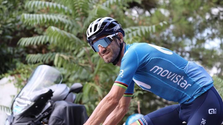 Alejandro Valverde con el maillot de Movistar Team