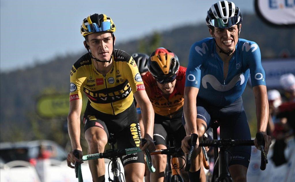 Enric Mas en meta en la 5ª etapa del Tour de Francia 2020