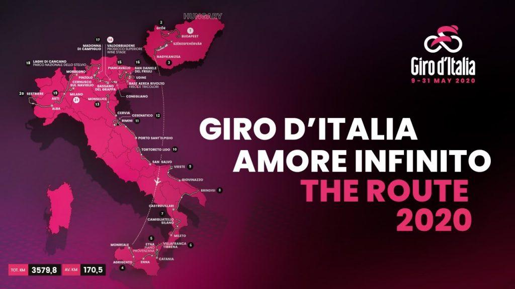 giro de italia 2020 etapas y recorrido