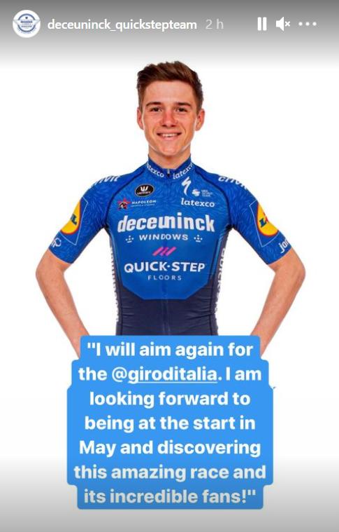 image - Remco Evenepoel apunta al Giro de Italia 2021