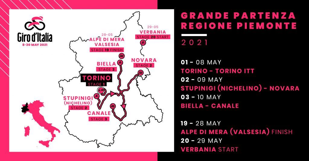 EtYeL9YWQAEYnr  1024x536 - Turín acogerá la Grande Partenza del Giro d'Italia 2021