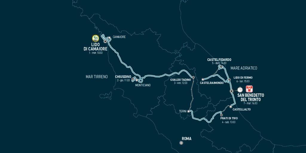 C3C3B824 39CA 4540 BD59 84F3744541AF 1024x512 - Tirreno Adriatico 2021. Historia, recorrido y favoritos.