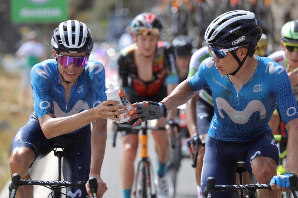 Enric Mas y Miguel Angel Lopez equipo español Movistar Team La Vuelta a España 2021 1024x681 - La desolación de Miguel Ángel López