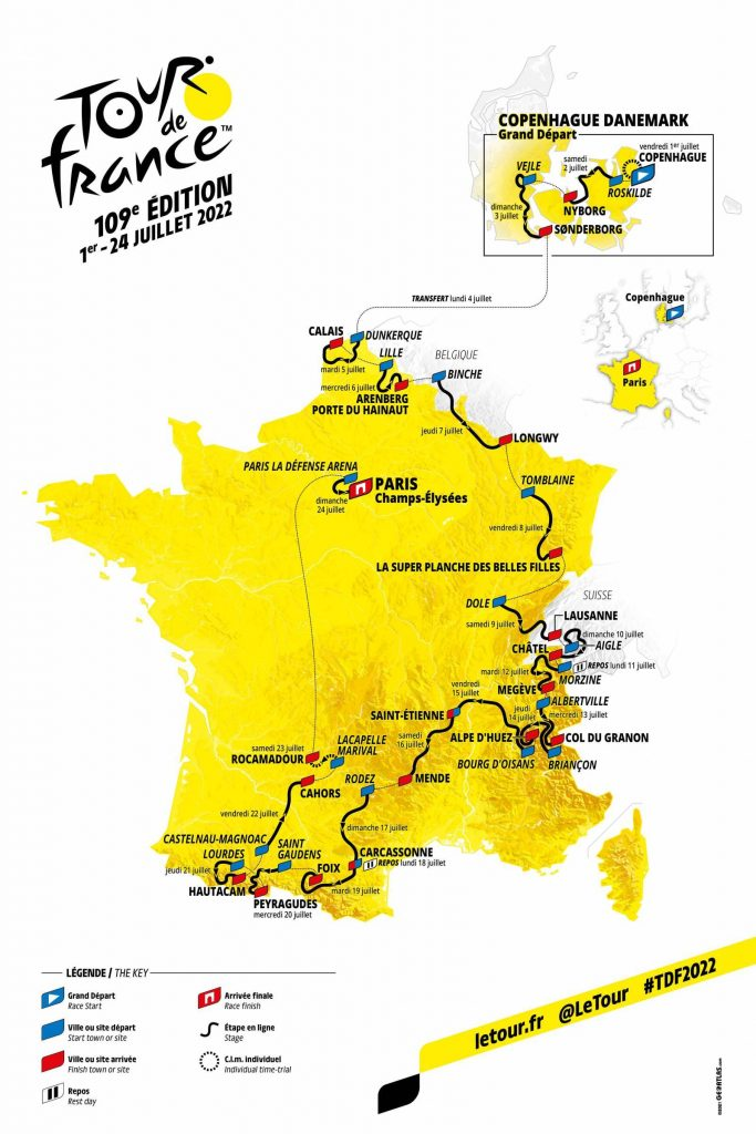 tour de francia 2022 recorrido 683x1024 - Tour de Francia 2022: Pavé, Alpes, Pirineos y 40km de contrarreloj